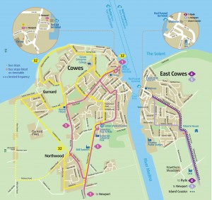 MAP--COWES bus
