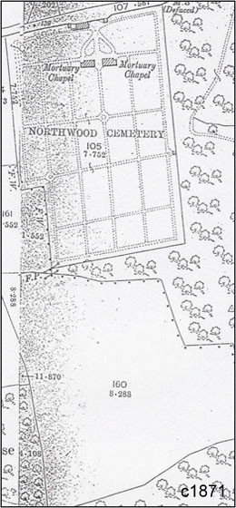 Northwood_Cemetery_Map_1871