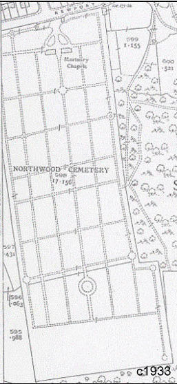 Northwood_Cemetery_Map_1933